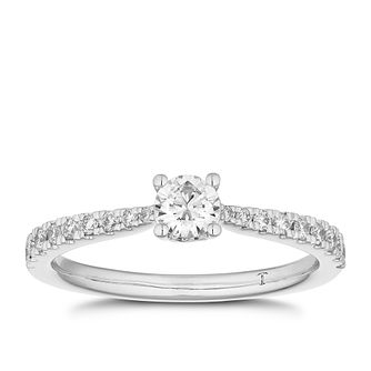 Tolkowsky 18ct White Gold 1/2ct I-P1 Diamond Solitaire Ring - Product number 4006518