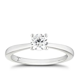 Tolkowsky 18ct White Gold 1/2ct I-P1 Diamond Solitaire Ring - Product number 4006631