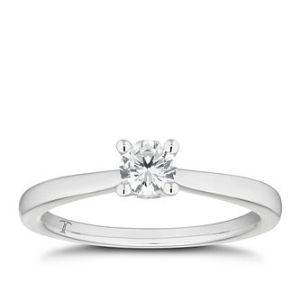 Tolkowsky 18ct White Gold 1/3ct I-P1 Diamond Solitaire Ring - Product number 4006658
