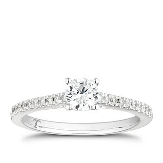 Tolkowsky 18ct White Gold 1/5ct I-P1 Diamond Solitaire Ring - Product number 4007085
