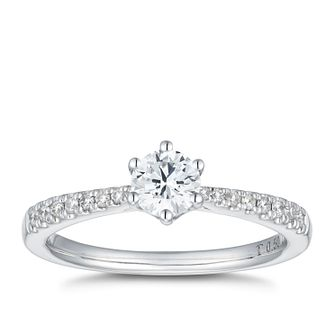 Tolkowsky 18ct White Gold 1/2ct I-P1 Diamond Solitaire Ring - Product number 4007212
