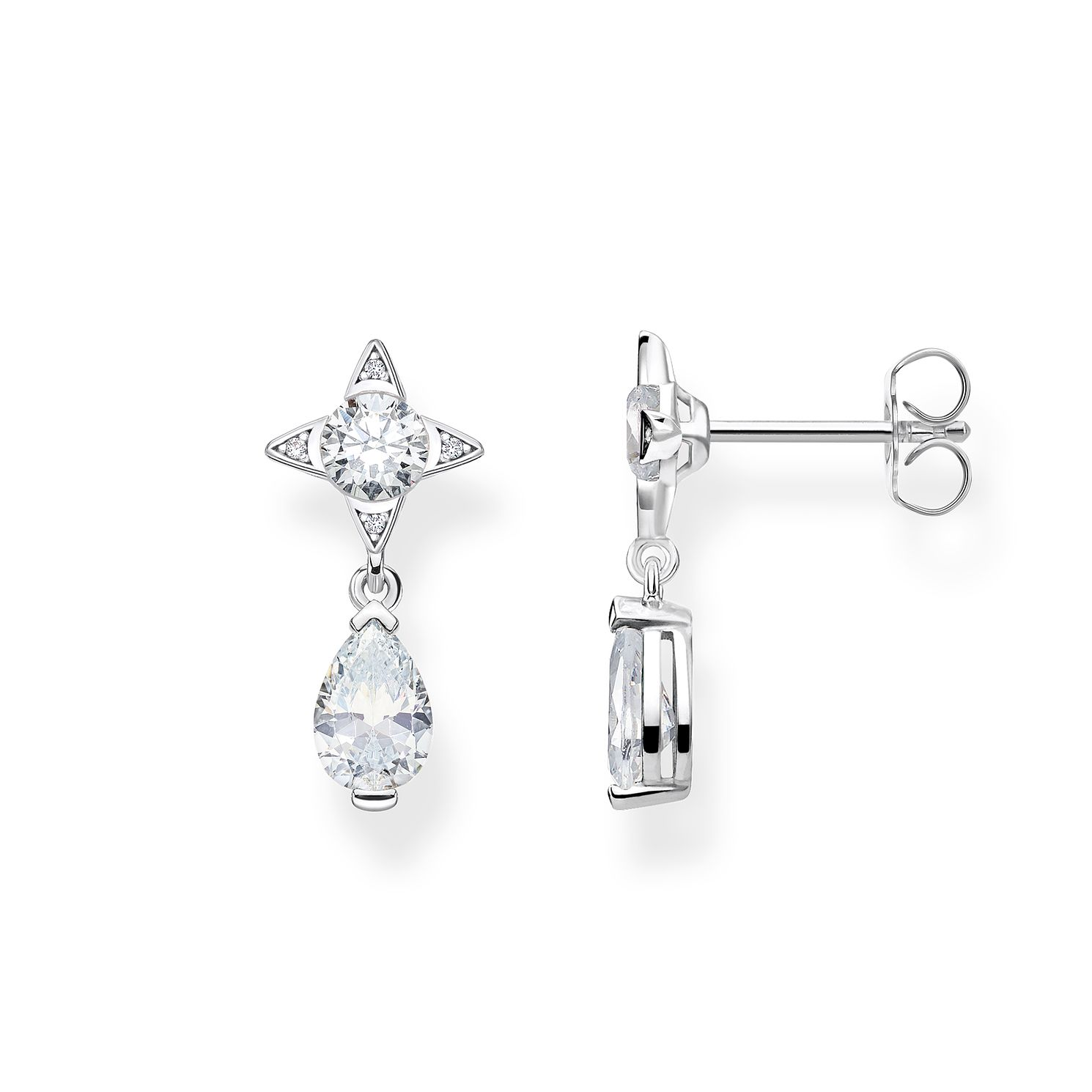 Thomas Sabo Sterling Silver Cubic Zirconia Drop Earrings - Product number 4007700