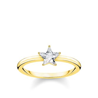Thomas Sabo Yellow Gold Plated Magic Star Ring Size M - Product number 4007743