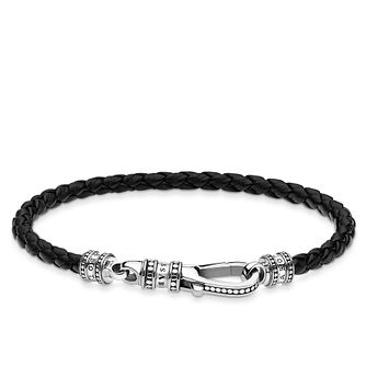 Thomas Sabo Sterling Silver And Leather Bracelet - Product number 4007824