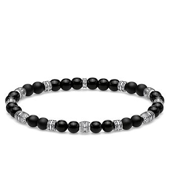 Thomas Sabo Sterling Silver Obsidian Bead Bracelet - Product number 4007867