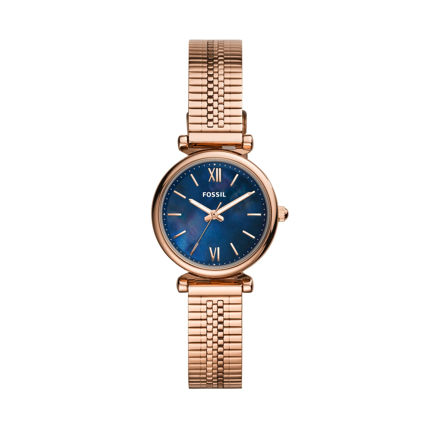 Fossil Ladies' Rose Gold Tone Stainless Steel Bracelet Watch - Product number 4011163