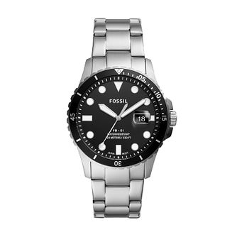 Fossil Men's Black Dial Stainless Steel Bracelet Watch - Product number 4011368