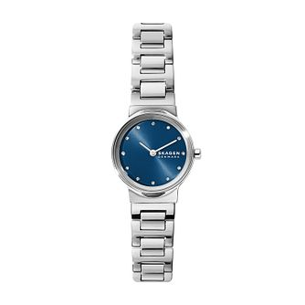 Skagen Ladies' Blue Dial Stainless Steel Bracelet Watch - Product number 4011996