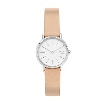 Skagen Signatur Ladies' Pink Leather Strap Watch - Product number 4012046