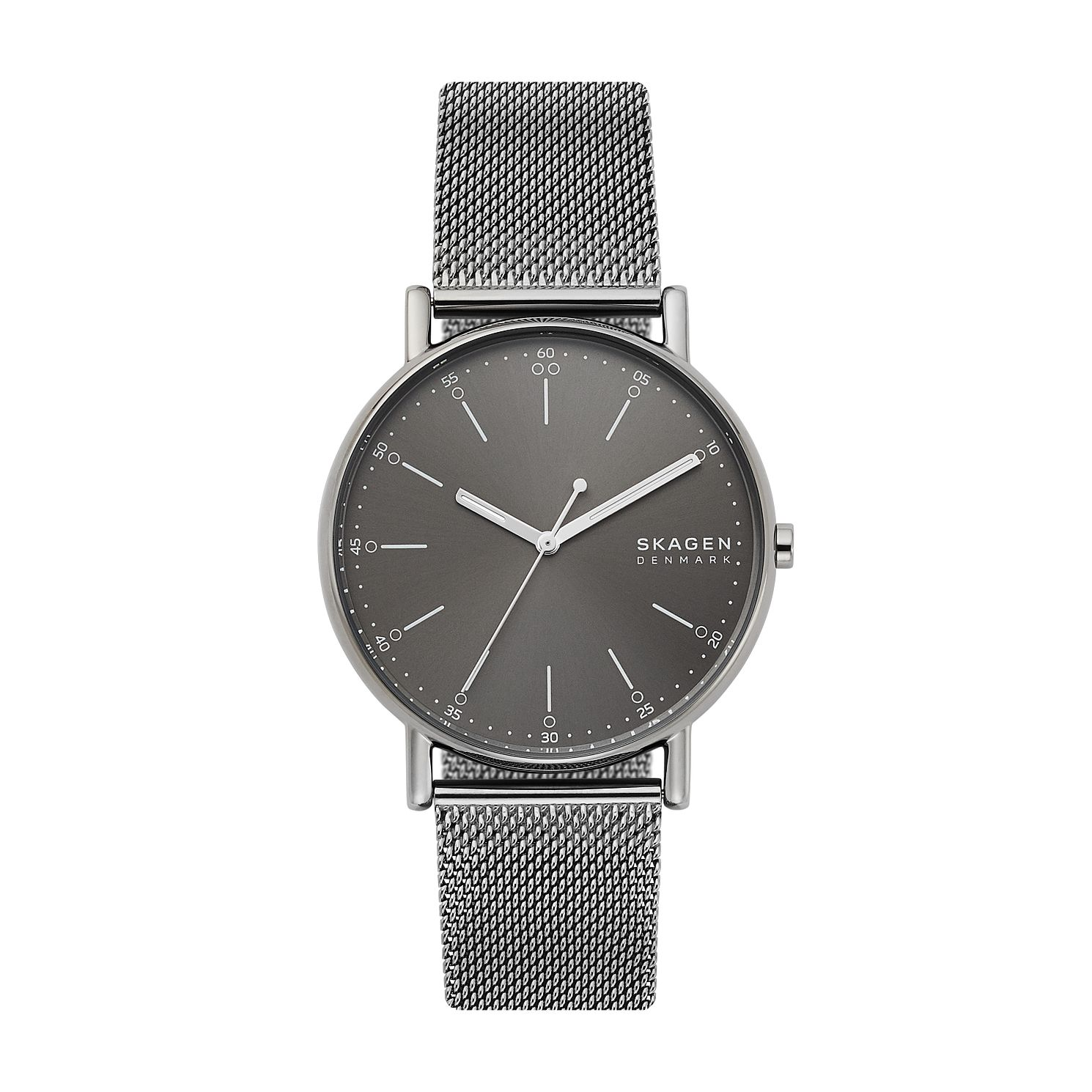 Skagen Signatur Men's Gunmetal Mesh Strap Watch - Product number 4012070