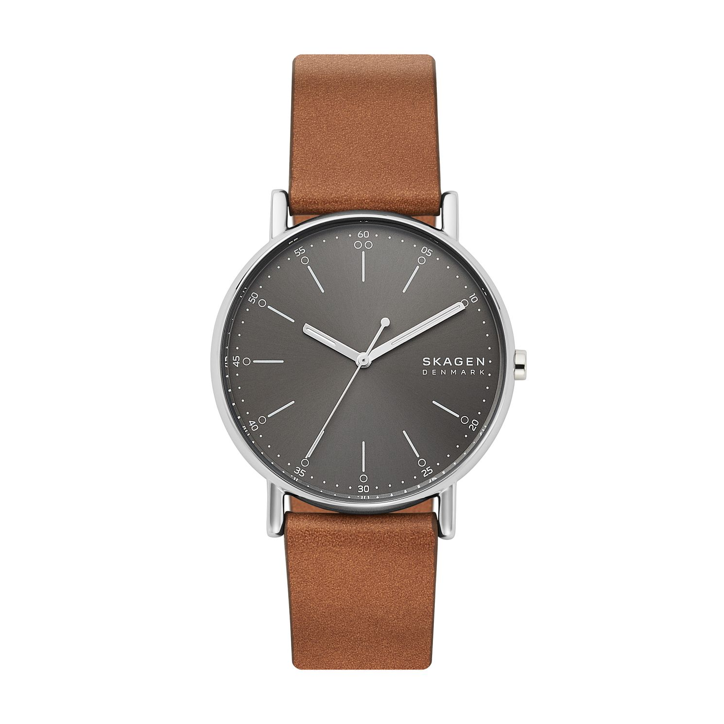 Skagen Signatur Men's Brown Leather Strap Watch - Product number 4012089