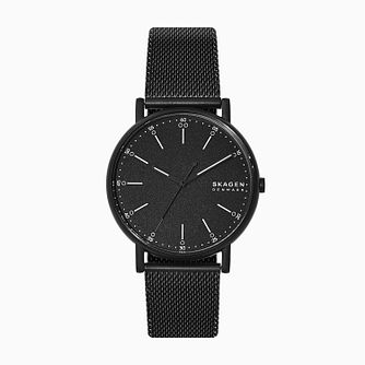 Skagen Signatur Men's Black Steel Mesh Bracelet Watch - Product number 4012097