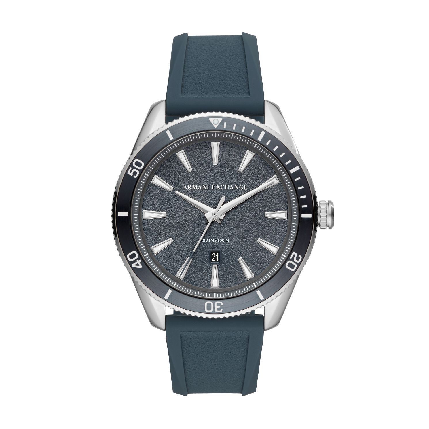 Armani Exchange Men's Blue Silicone Strap Watch - Product number 4012119