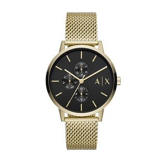 Armani Exchange Men's Gold Tone Mesh Bracelet Watch - Product number 4012127
