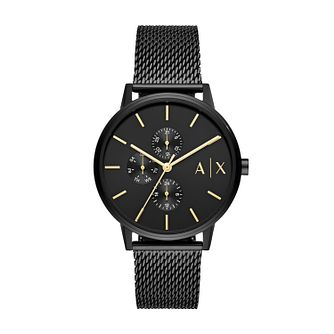 Armani Exchange Men's Black IP Mesh Bracelet Watch - Product number 4012135