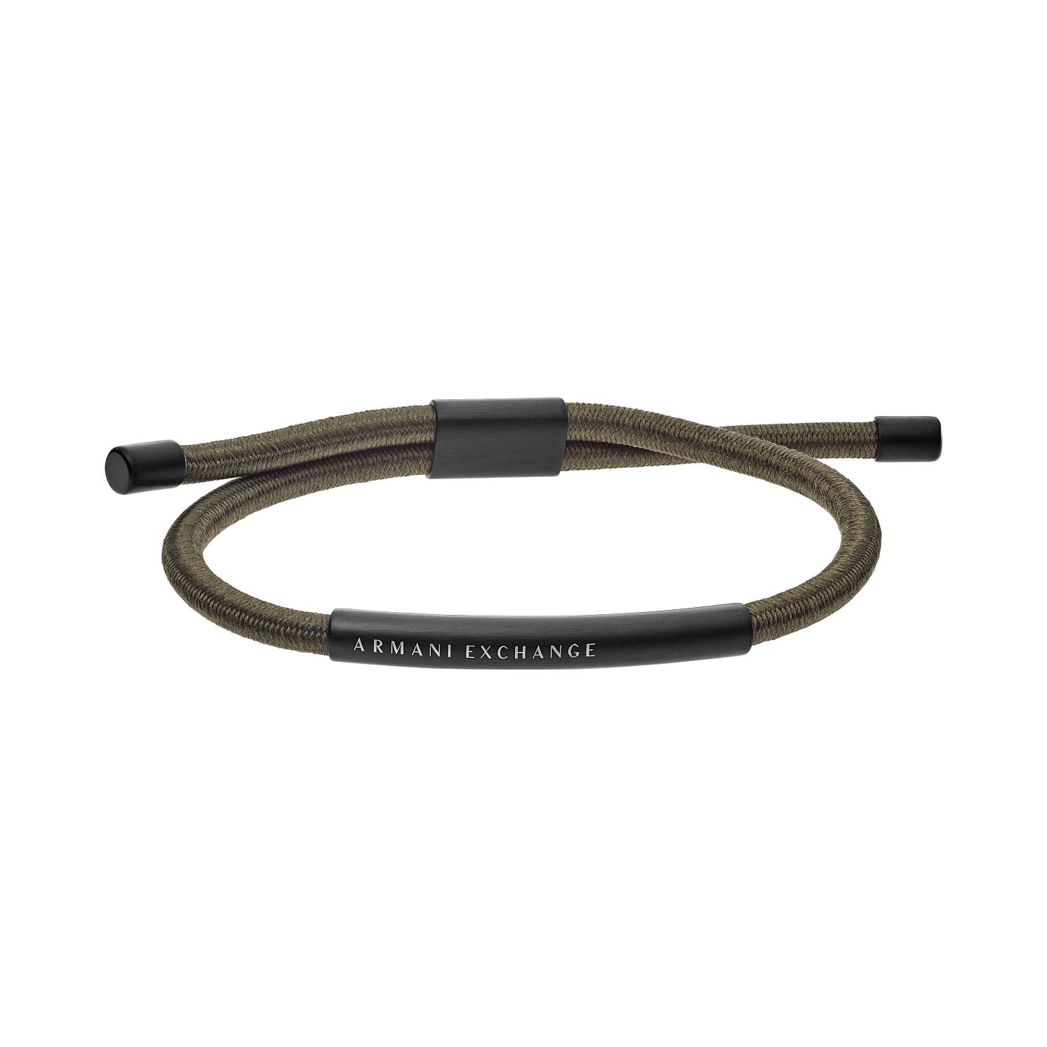 Armani Exchange Men's Stainless Steel Green Leather Bracelet - Product number 4012194