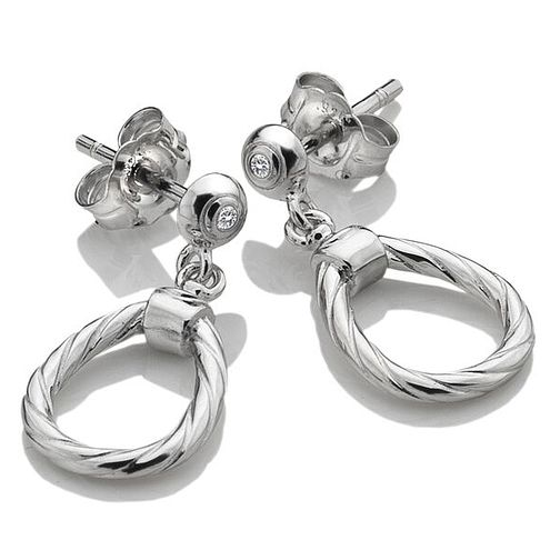 Hot Diamonds Breeze Ladies' Silver Diamond Drop Earrings - Product number 4017072