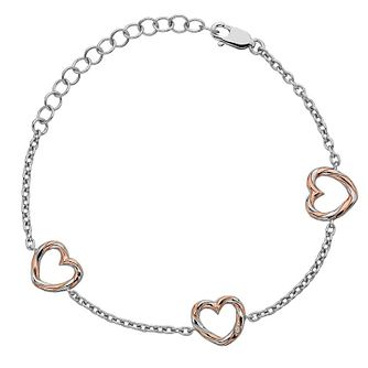 Hot Diamonds Breeze Ladies Two Colour Diamond Heart Bracelet - Product number 4017501