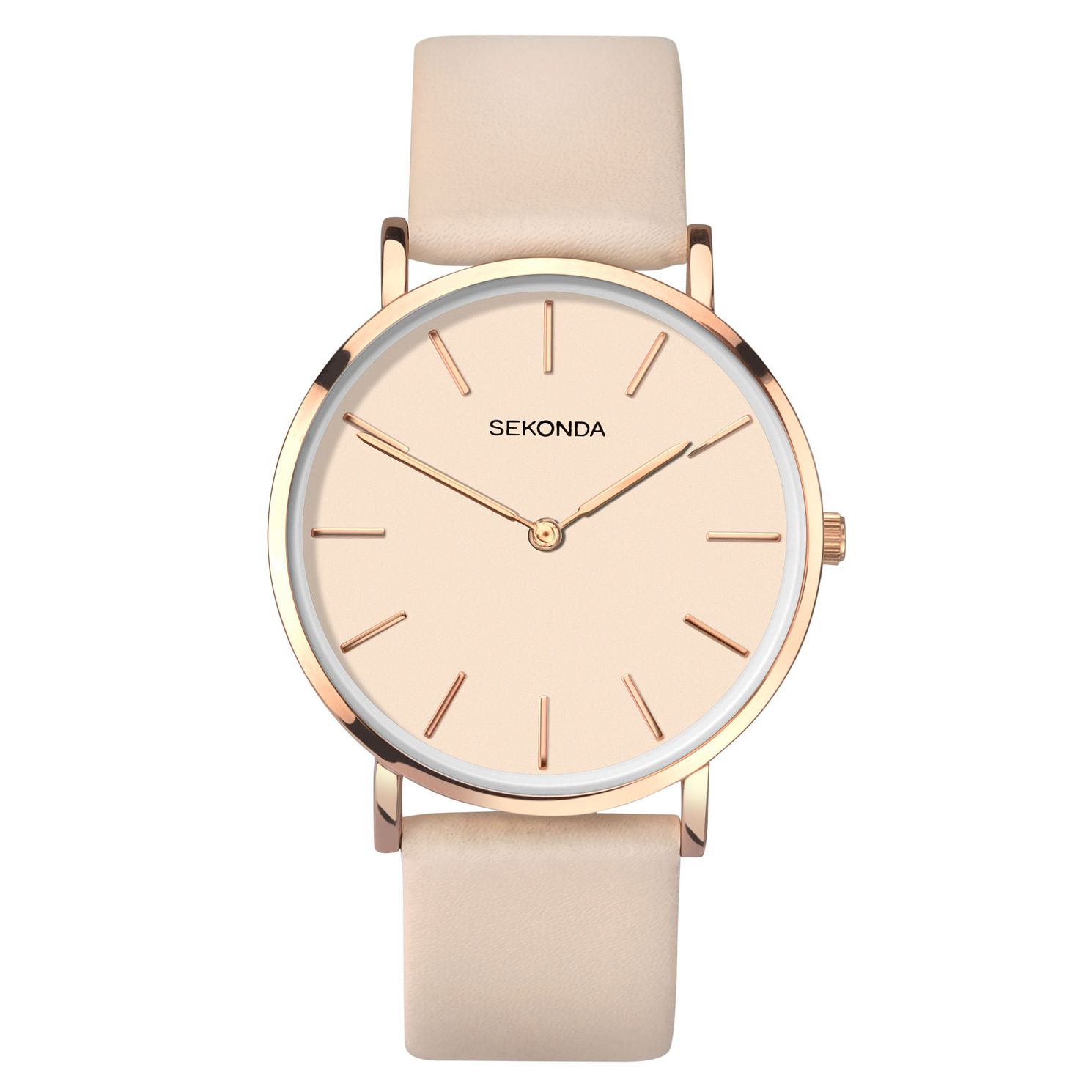 Sekonda Editions Ladies' Nude Leather Strap Watch - Product number 4017714