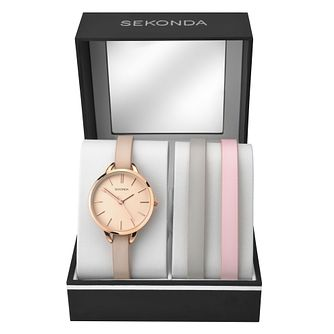 Sekonda Ladies' Three Leather Strap Watch Gift Set - Product number 4017722