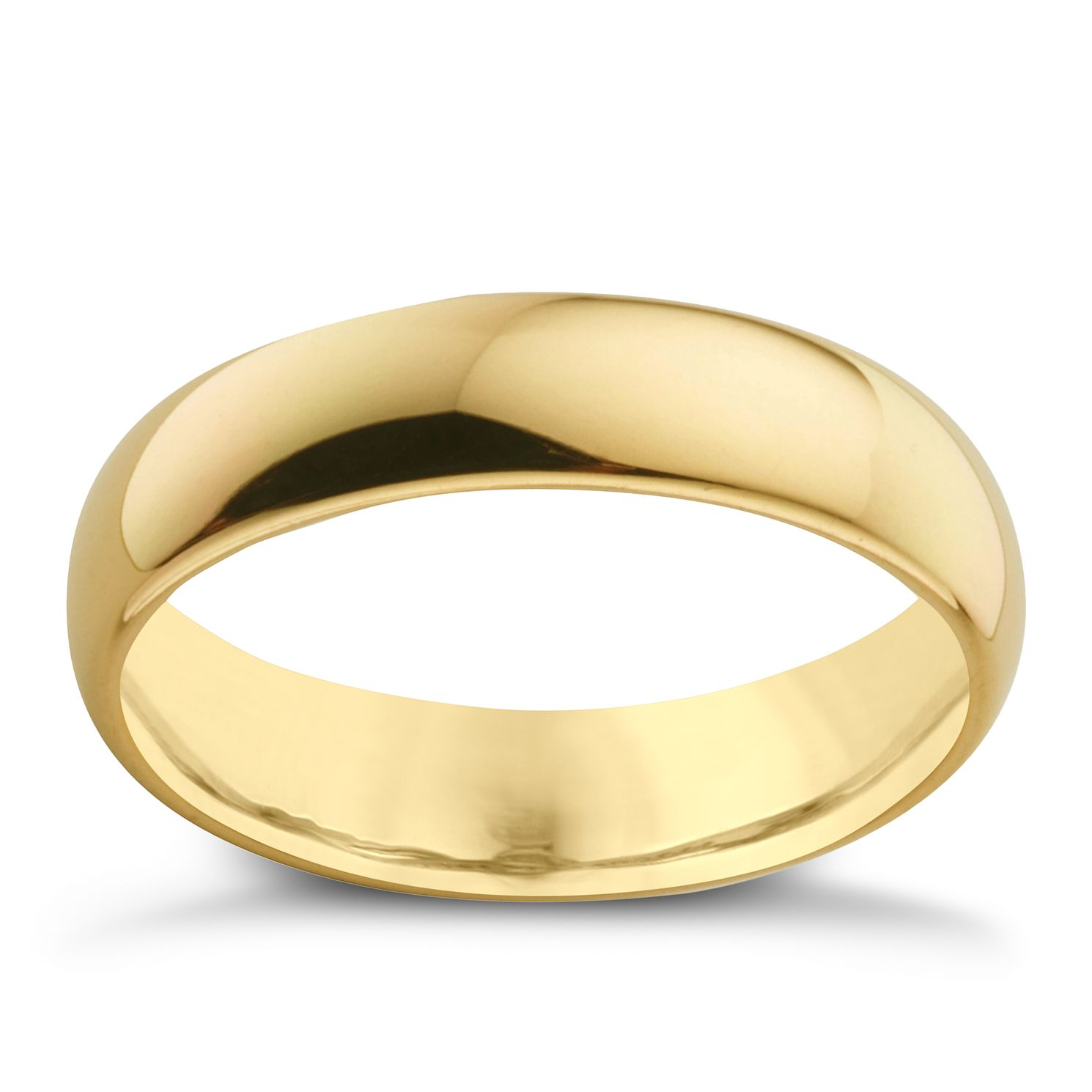 18ct Yellow Gold 5mm Super Heavyweight Court Ring - Product number 4021479
