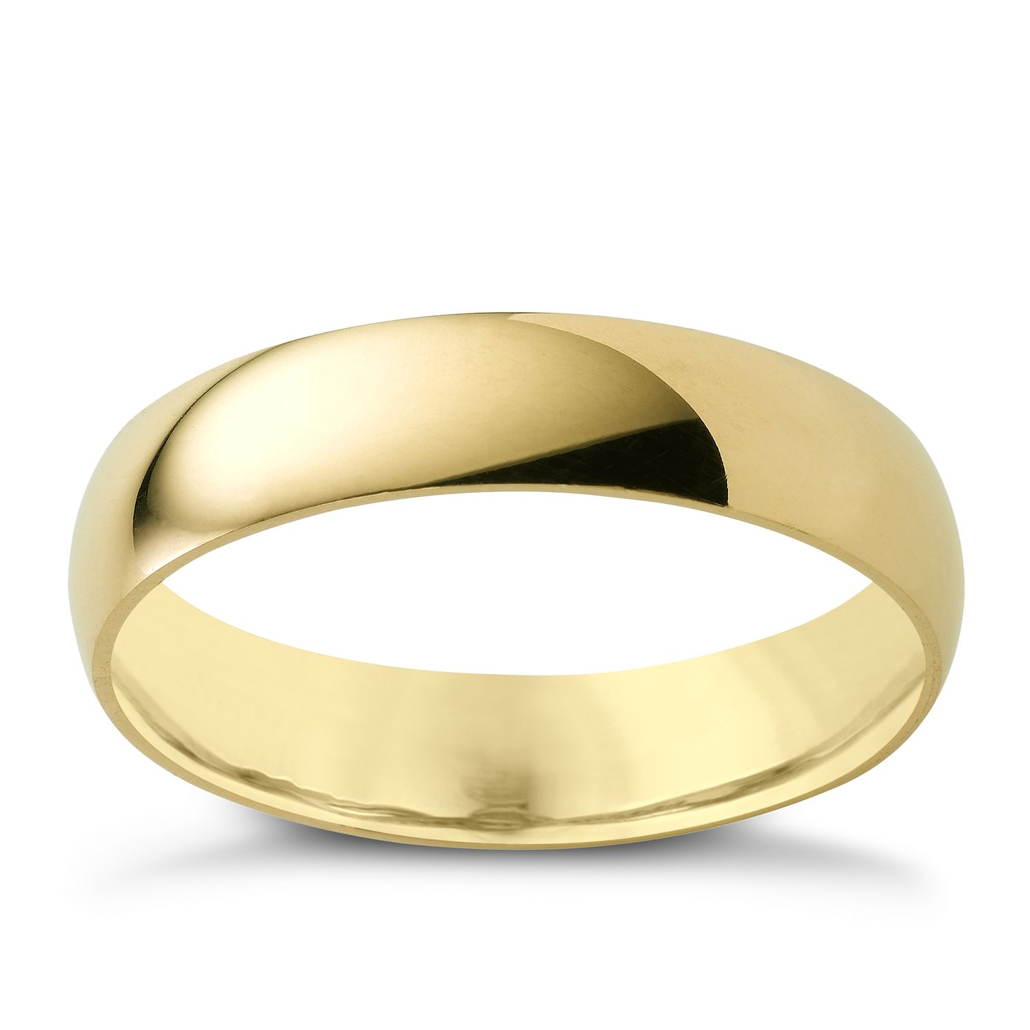 18ct Yellow Gold 5mm Extra Heavyweight Court Ring - Product number 4021517