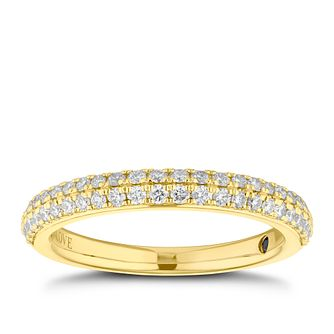 Vera Wang 18ct yellow gold 0.37CT diamond wedding band - Product number 4023676