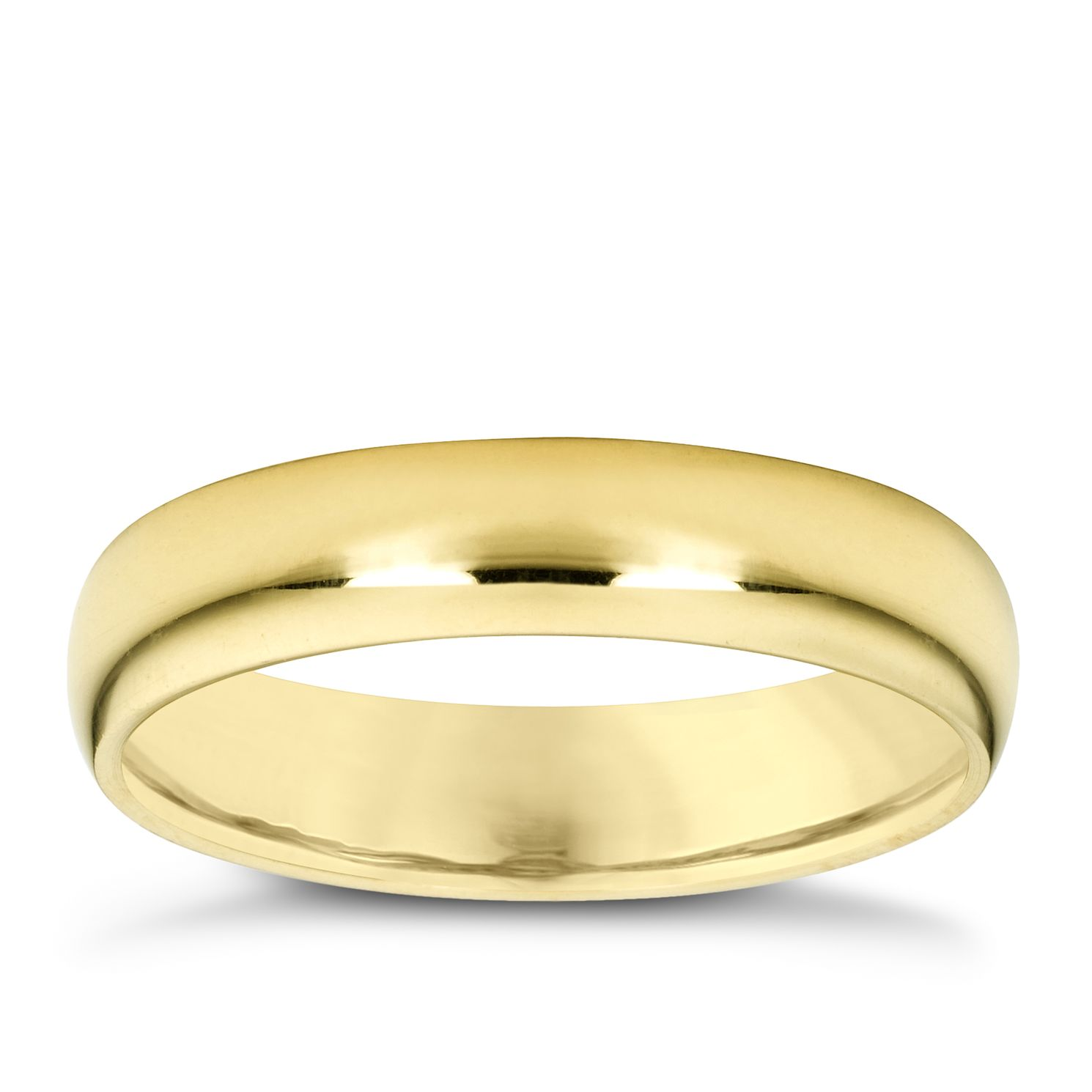 18ct Yellow Gold 3mm Super Heavyweight Court Ring - Product number 4024370