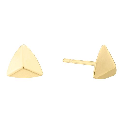 9ct Yellow Gold Pyramid Shape Stud Earrings - Product number 4025660