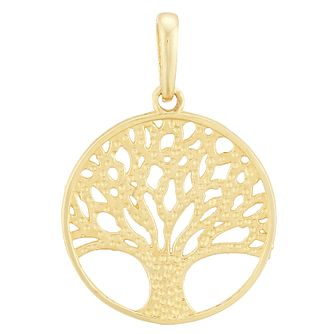 9ct Yellow Gold Cut Out Tree of Life Design Pendant - Product number 4026136