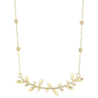 9ct Yellow Gold Leaf Branch Design Necklet - Product number 4026144