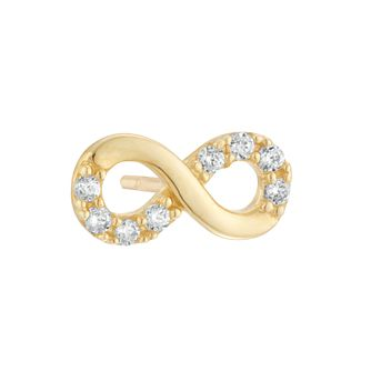 9ct Yellow Gold Cubic Zirconia Infinity Single Stud Earring - Product number 4028481