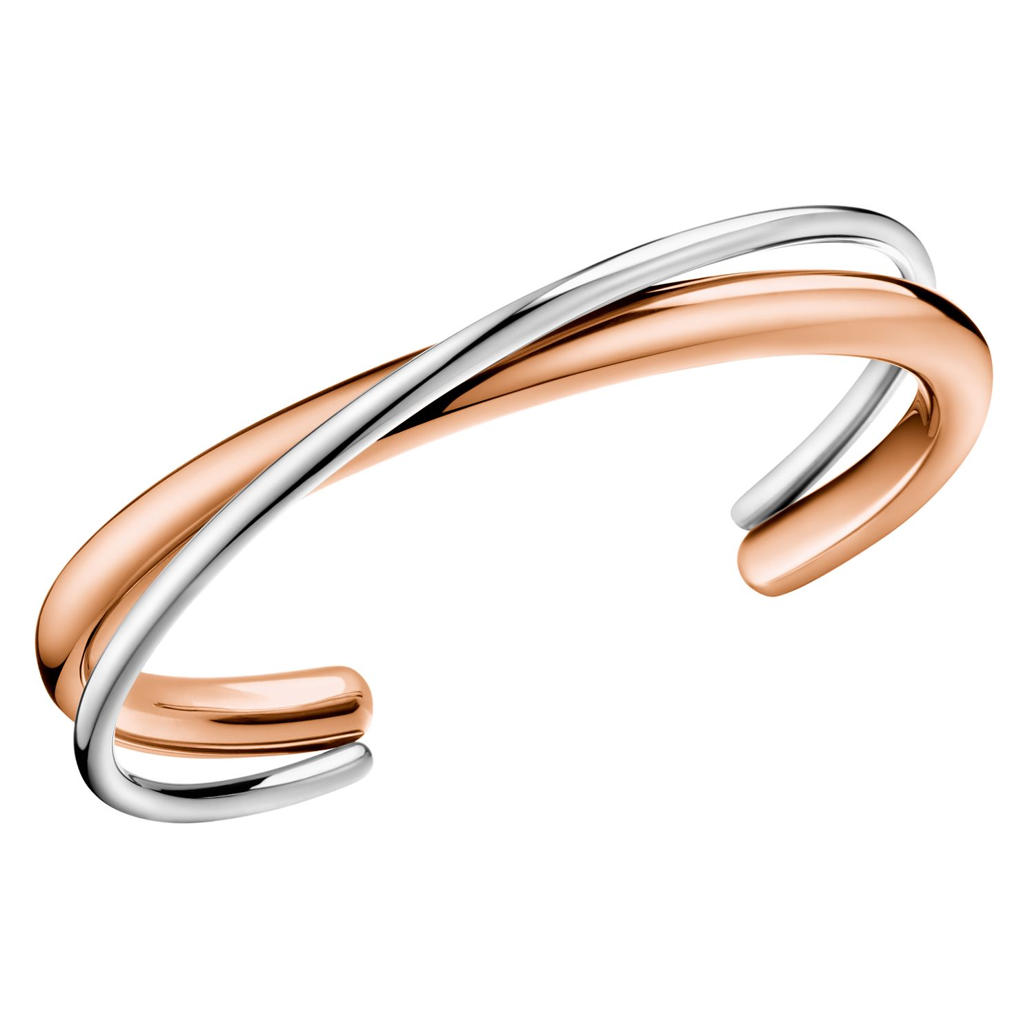Calvin Klein Two Tone Double Strand Open Bangle - Product number 4029372