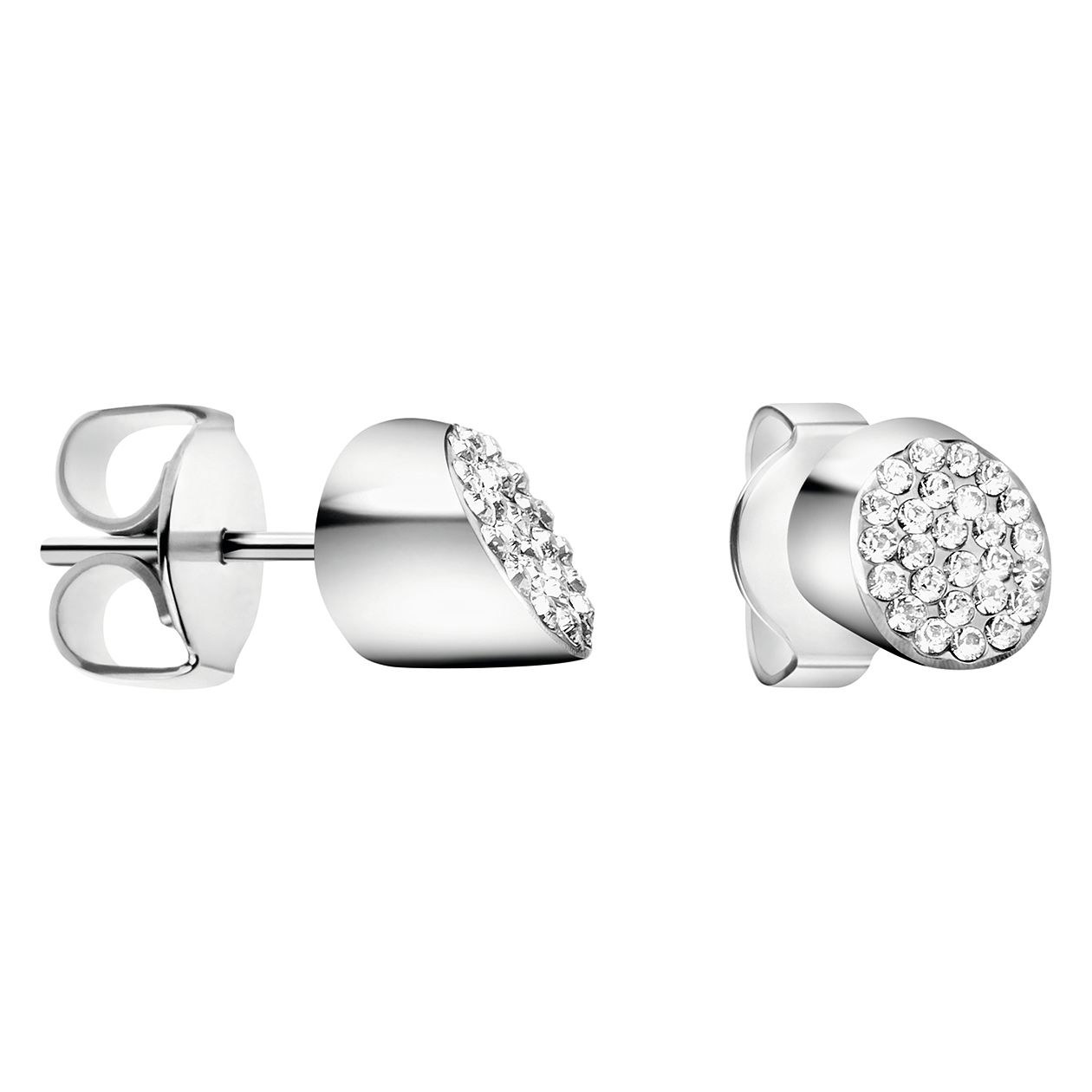 Calvin Klein Stainless Steel White Crystal Stud Earrings - Product number 4029720