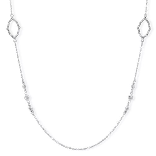 "Anne Klein Silver Plated Crystal 42"" Pave Necklace - Product number 4031091"