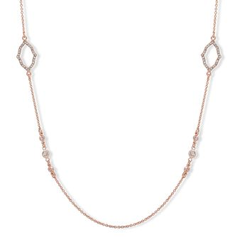 "Anne Klein Rose Gold Plated Crystal 42"" Pave Necklace - Product number 4031113"