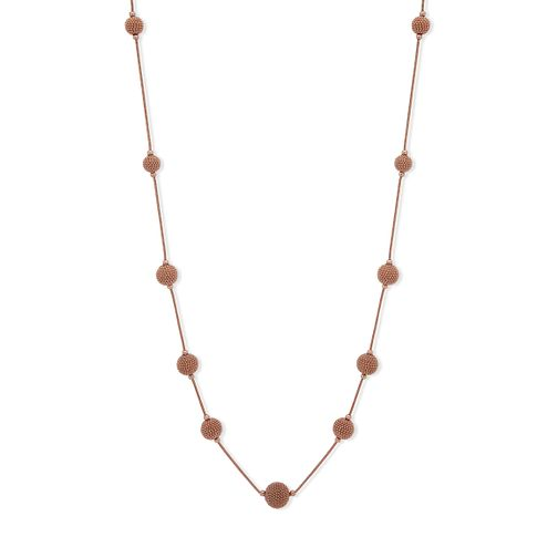 "Anne Klein Rose Gold Tone 42"" Ball Strand Necklace - Product number 4031148"