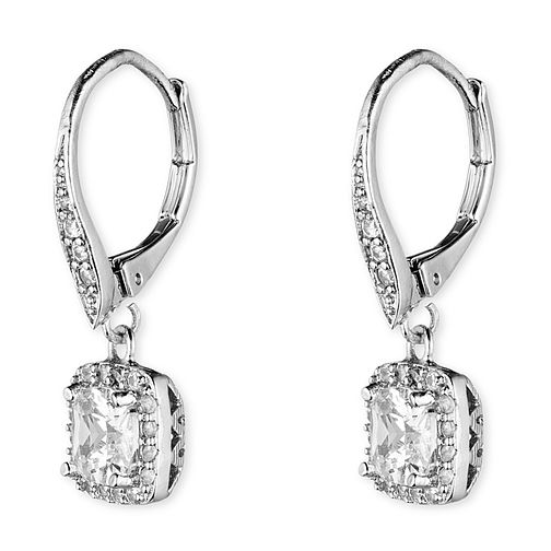 Anne Klein Silver Tone Crystal Drop Earrings - Product number 4031164