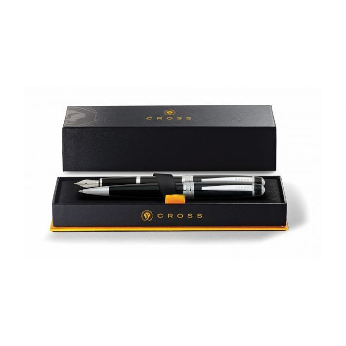 Cross Bailey Black Lacquer Ballpoint & Fountain Pen Gift Set - Product number 4031458