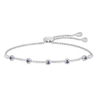 Vera Wang Silver 0.29ct Diamond & Sapphire Bracelet - Product number 4040309