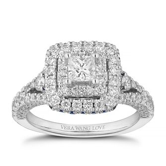 Vera Wang 18ct White Gold 0.95ct Diamond Princess Cut Ring - Product number 4040716