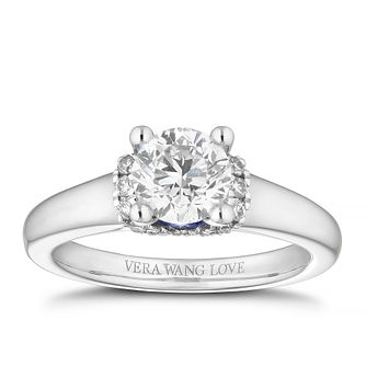 Vera Wang 18ct White Gold 1.09ct Diamond Solitaire Ring - Product number 4041623