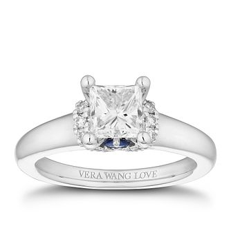 Vera Wang 18ct White Gold 1.09ct Princess Cut Diamond Ring - Product number 4041828