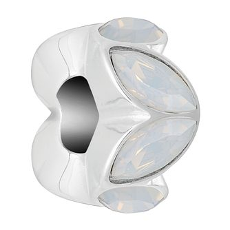 Chamilia Sterling Silver White Opal Reflection Accent Charm - Product number 4042050