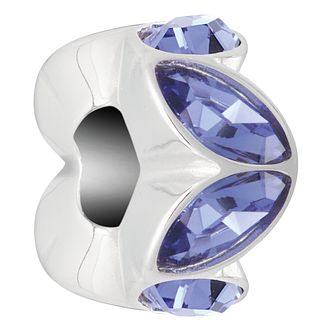 Chamilia Reflection Accent Tanzanite Swarovski Crystal Charm - Product number 4042158
