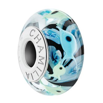 Chamilia Womens Shimmering Scales Bead Charm Teal