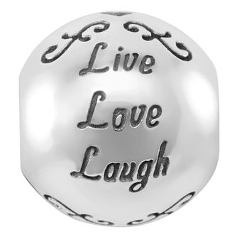 Chamilia Sterling Silver Live Love Laugh Charm - Product number 4043081