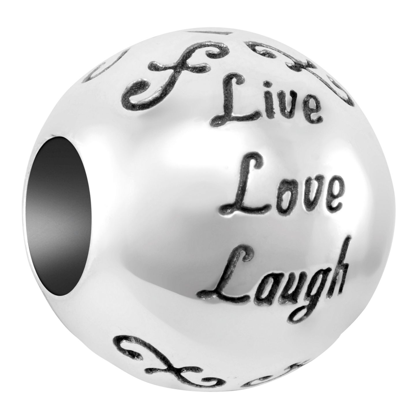 Chamilia Sterling Silver Live Laugh Love Charm - Product number 4043332