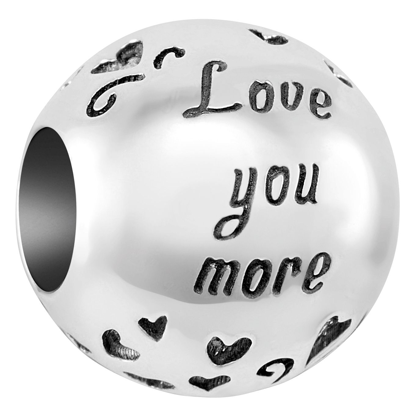 Chamilia Sterling Silver Love You More Charm - Product number 4043537