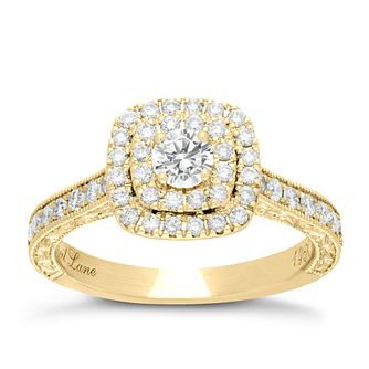 Neil Lane 14ct Gold 0.87ct Diamond Halo Ring - Product number 4043898